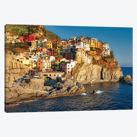 Manarola Of Cinque Terre Canvas Print #ZSC82} by Zoe Schumacher Canvas Artwork