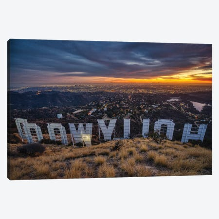Backstage At The Hollywood Sign Canvas Print #ZSC83} by Zoe Schumacher Canvas Art