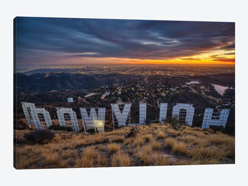 Backstage At The Hollywood Sign by Zoe Schumacher 1-piece Canvas Art Print