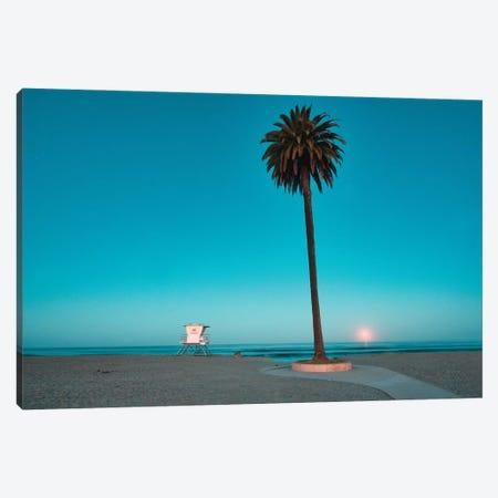Moonset At Moonlight Beach Canvas Print #ZSC95} by Zoe Schumacher Canvas Art
