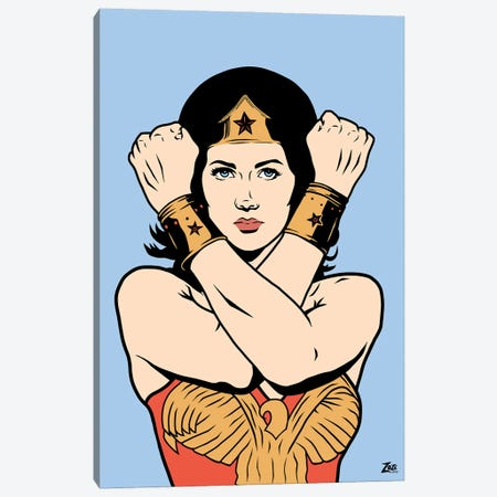 Wonder Woman Canvas Print #ZZD18} by Zozi Designs Canvas Artwork