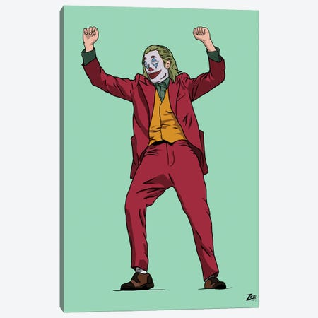 Joker Canvas Print #ZZD22} by Zozi Designs Canvas Print