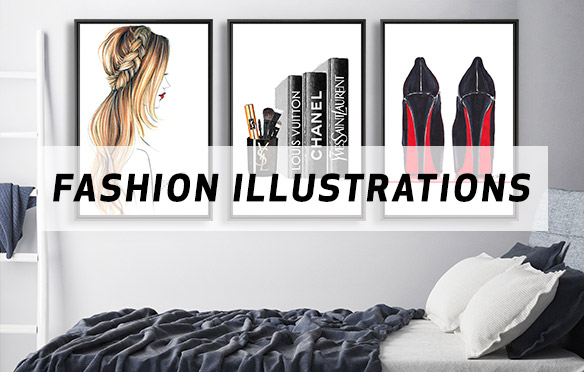 Fashion Drawings & Sketches Canvas Prints