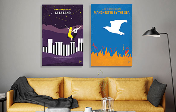 NEW! Minimalist Movie Posters Canvas Prints