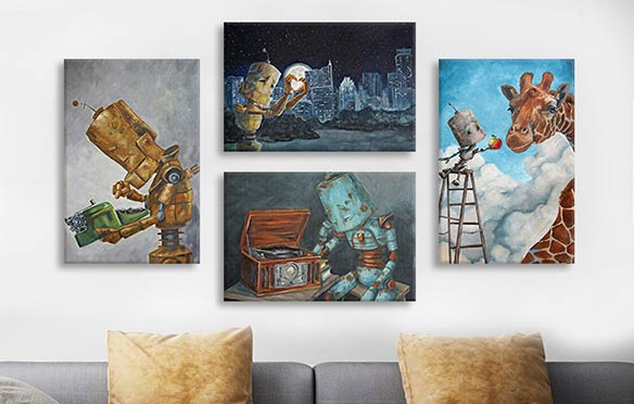Trending Artist: Robots in Rowboats Canvas Artwork