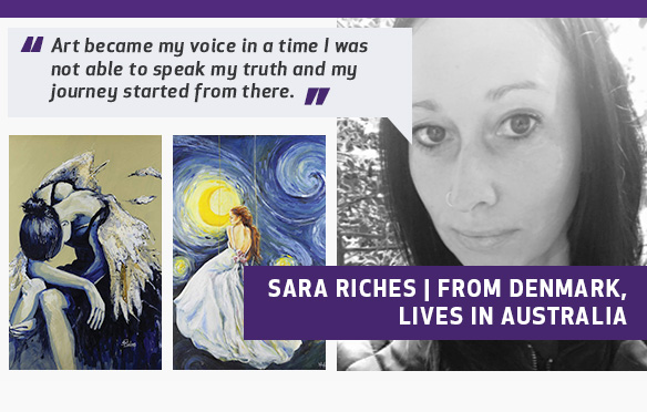 More About Sara Canvas Art