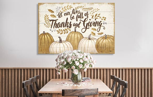 Pumpkin Kisses & Harvest Wishes Art Prints