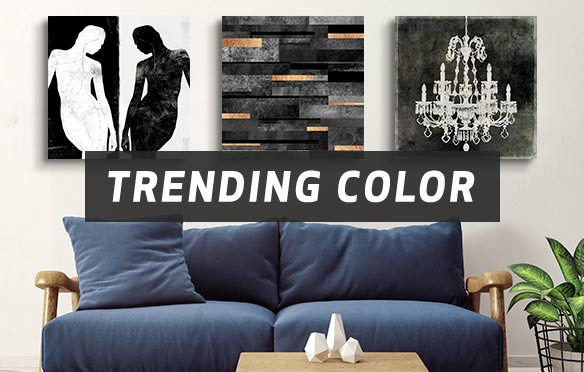Trending Color: Gray Canvas Art