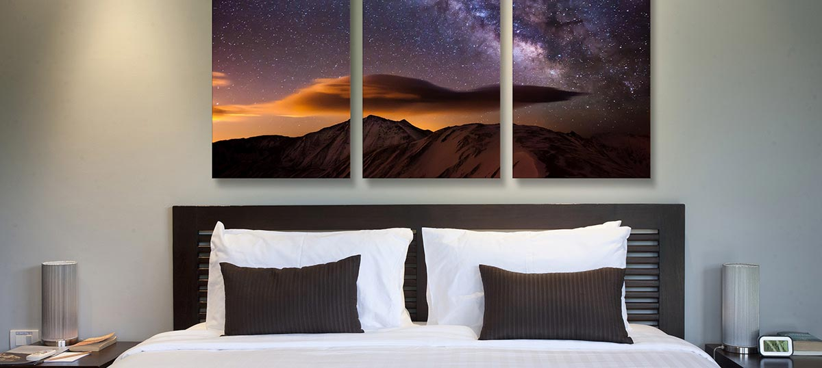 3 piece astronomy canvas artwork