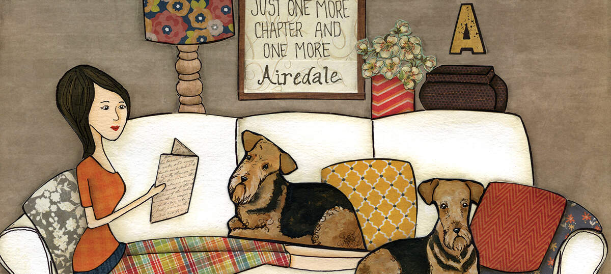 Airedale Terriers Canvas Wall Art
