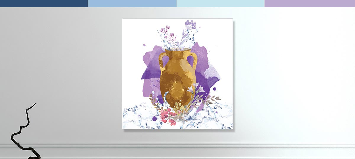 Aquarius Colors Canvas Wall Art