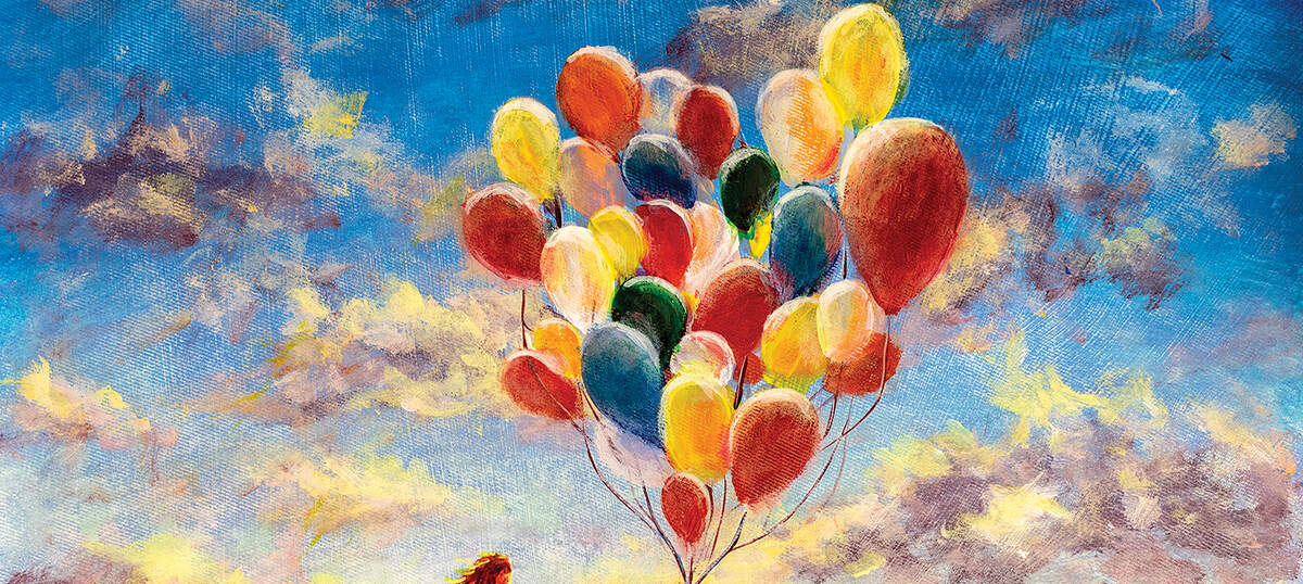 Balloons Canvas Wall Art
