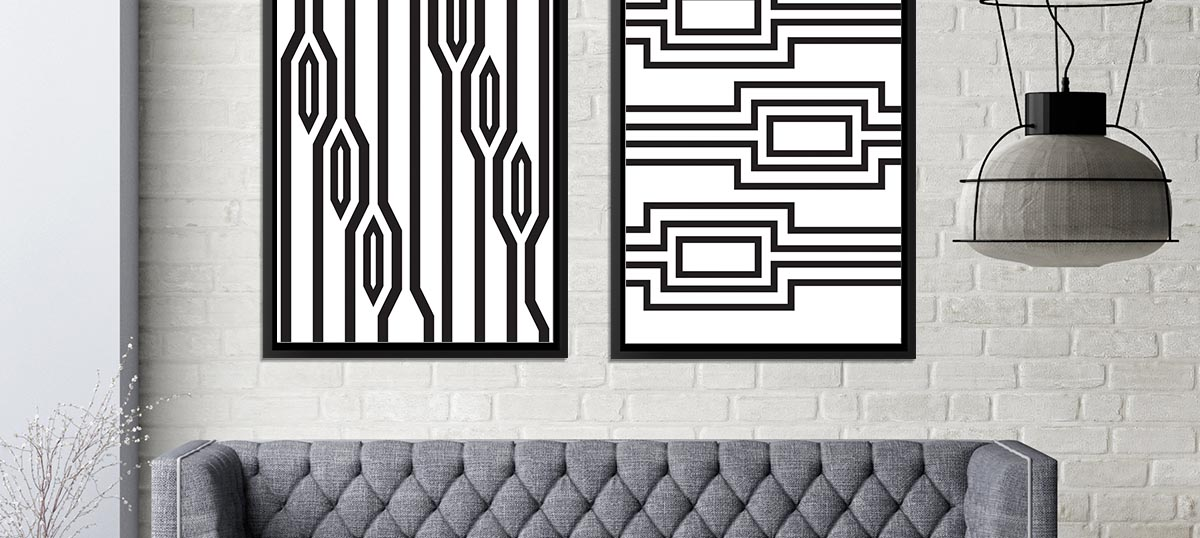 Black & White Patterns Canvas Art