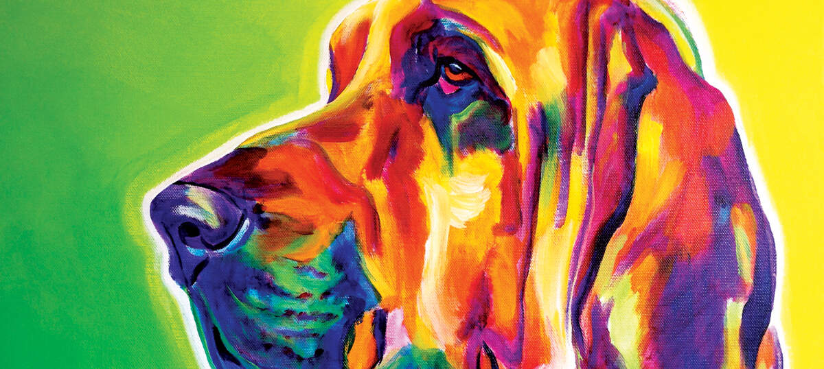 Bloodhounds Canvas Art