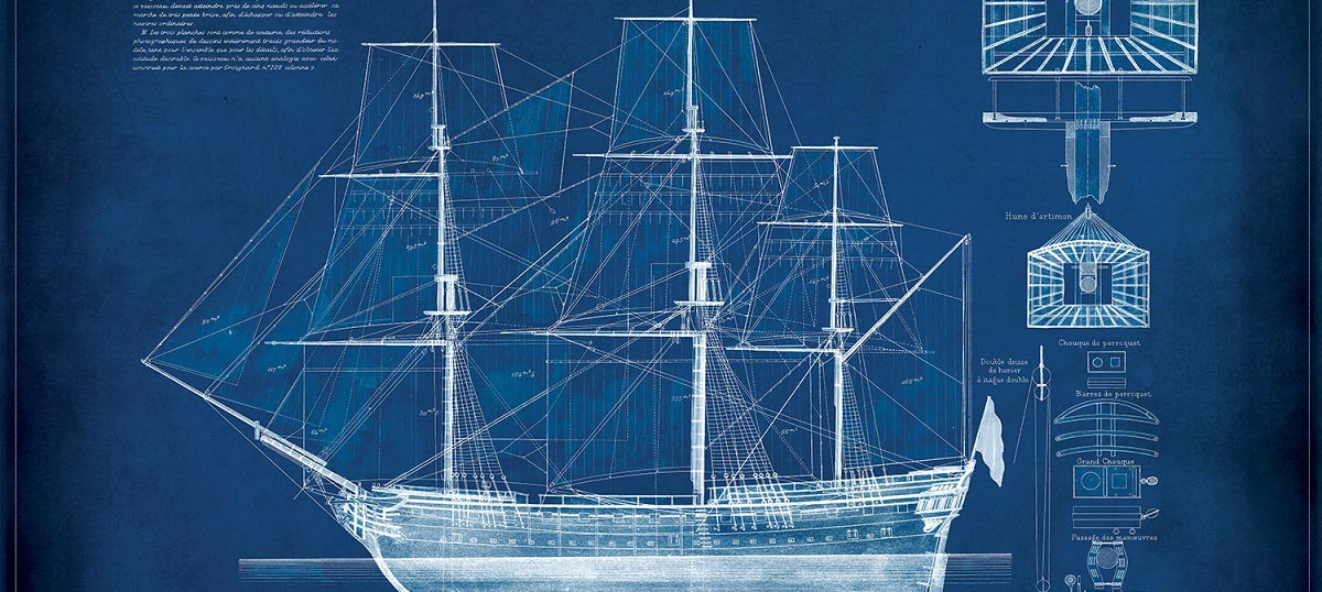 Nautical blueprints canvas art prints icanvas nautical blueprints canvas prints malvernweather Image collections