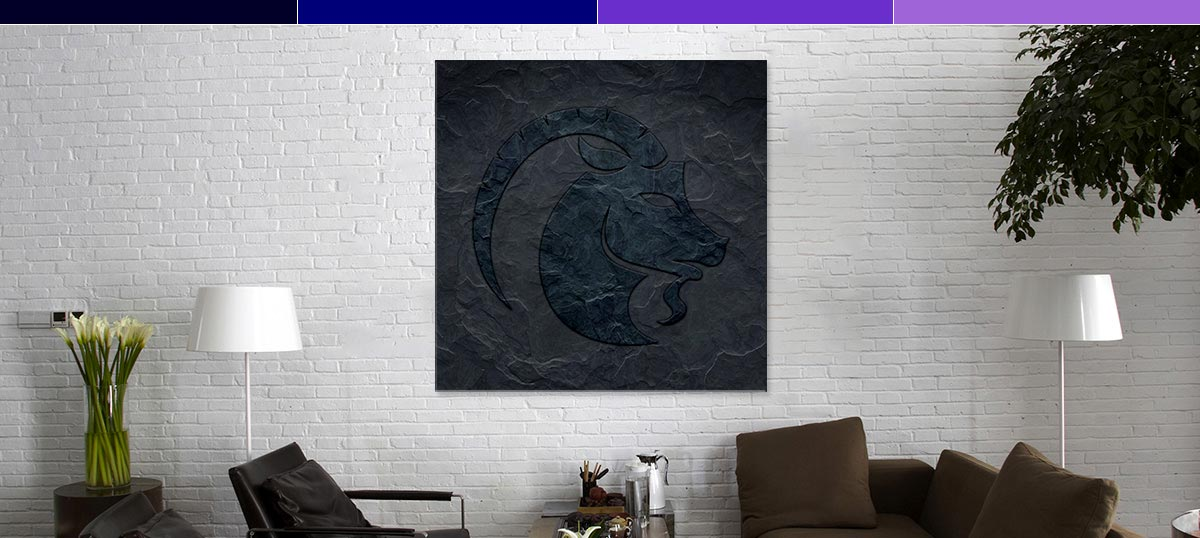 Capricorn Colors Art Prints