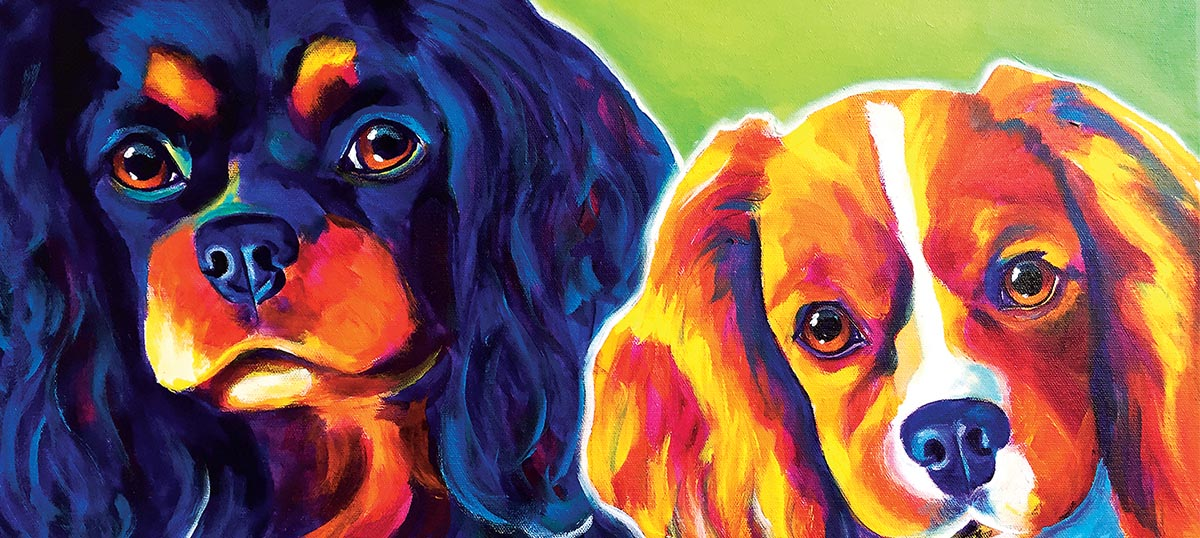 Cavalier King Charles Spaniels Canvas Artwork