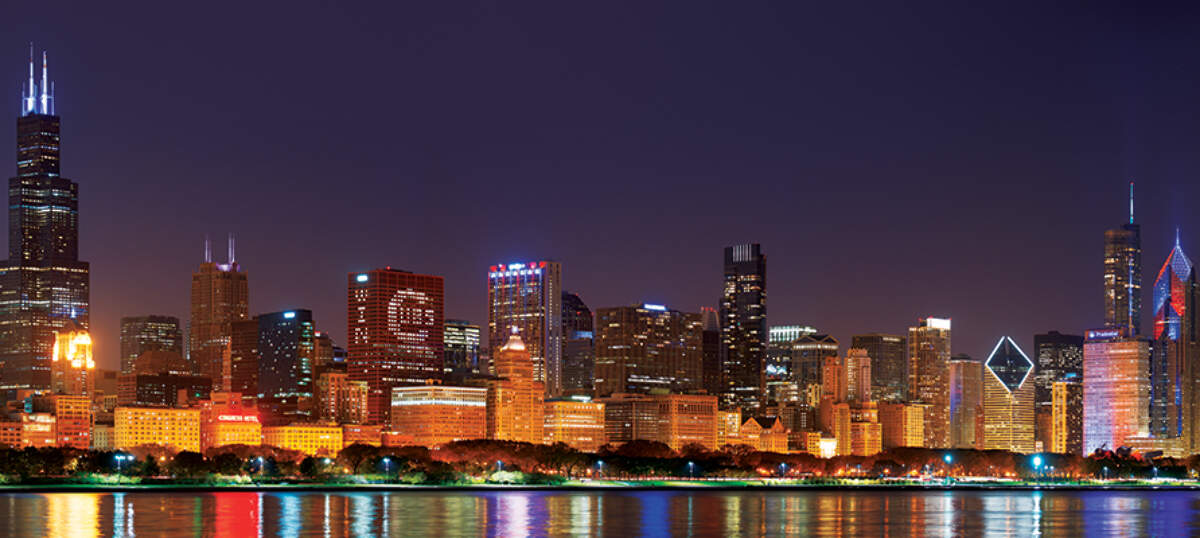 Chicago Skylines Canvas Prints