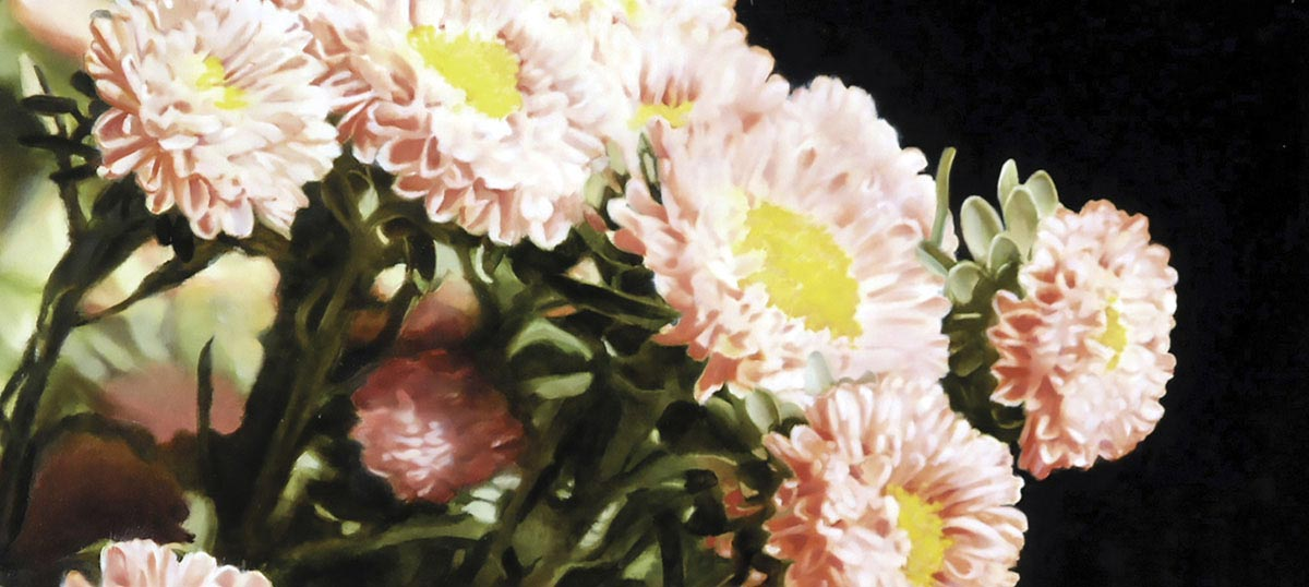 Chrysanthemums Canvas Artwork