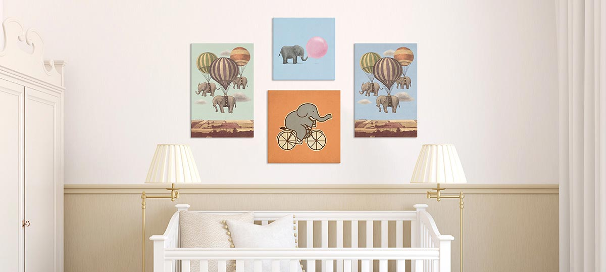 Circus Fun Canvas Wall Art
