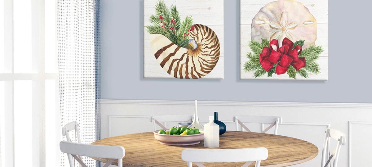 Christmas Coast II Black Framed Art Print