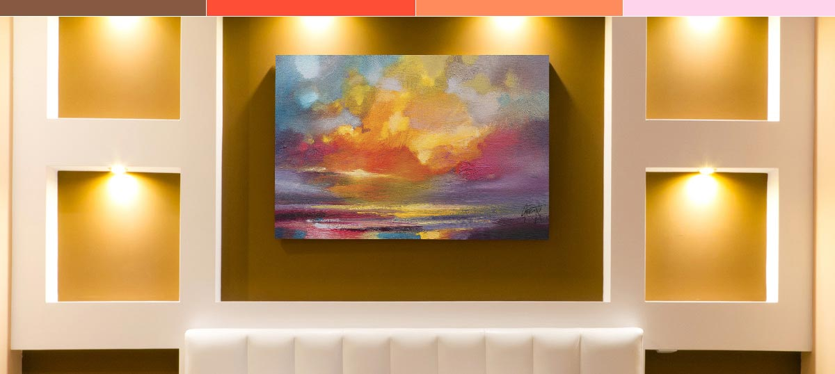 Colors of the Sunset Canvas Art