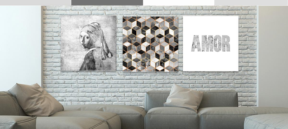 Gray & White Canvas Prints