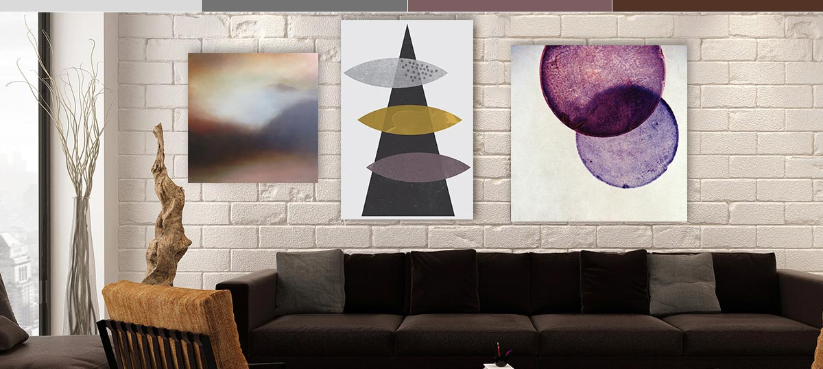 Neutrals with a Violet Twist Canvas Art