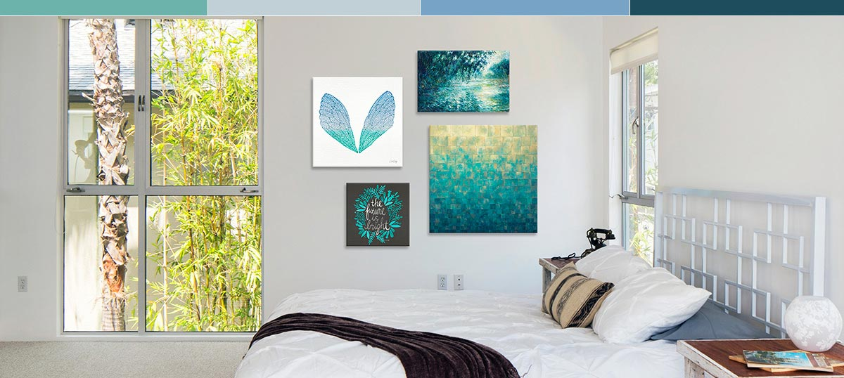 Cool Blue Hues Canvas Wall Art