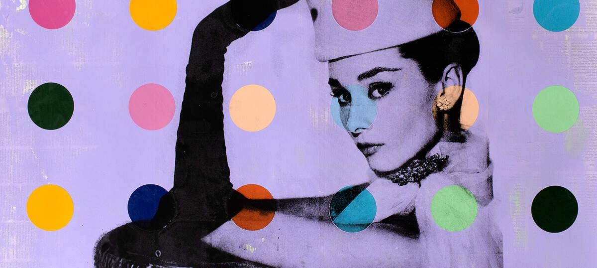 A0 canvas street art painting rainbow hair print  marilyn monroe pop art vintage