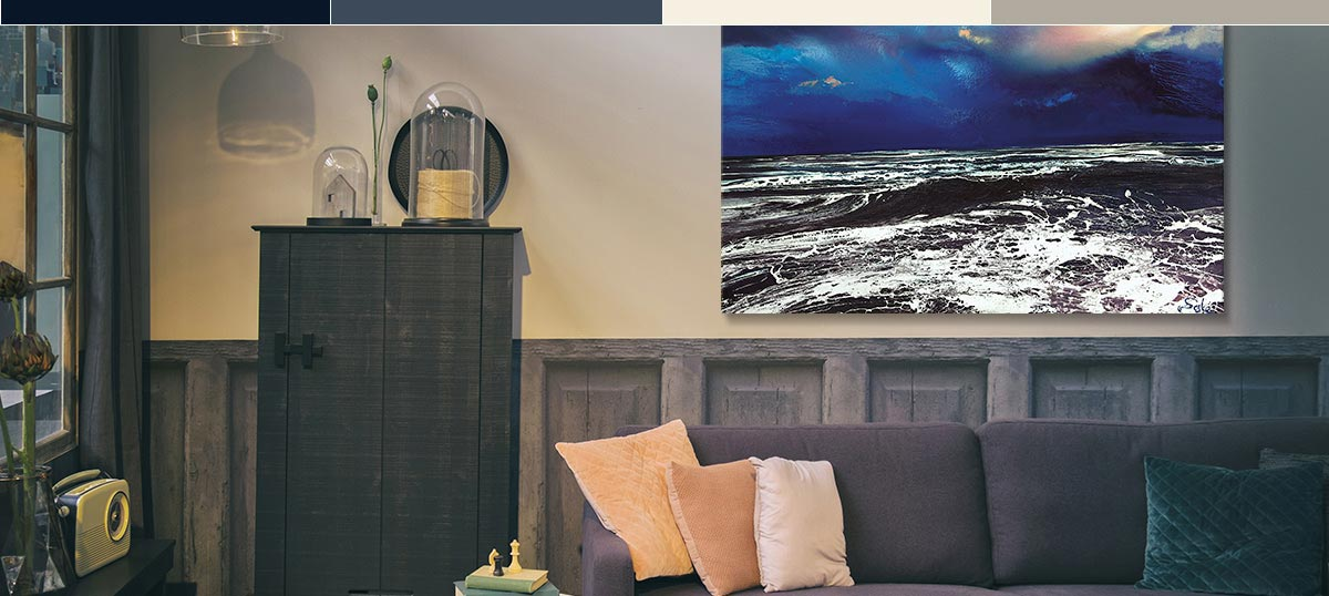 Dark & Stormy Blues Canvas Wall Art
