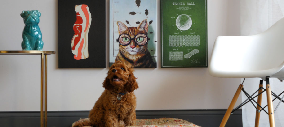 Art For Dogs  Canvas Art Prints