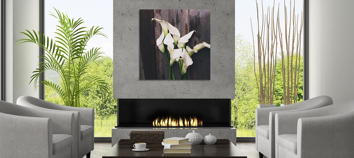 Earthen Wood Canvas Art
