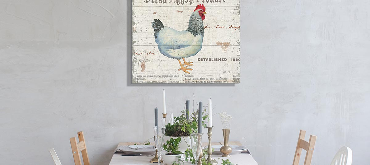 Farmhouse Kitchen Canvas Art