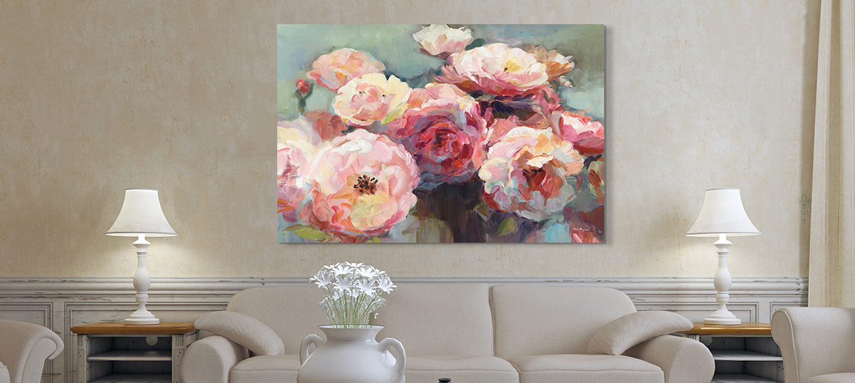 Mother's Day Flowers Canvas Wall Art