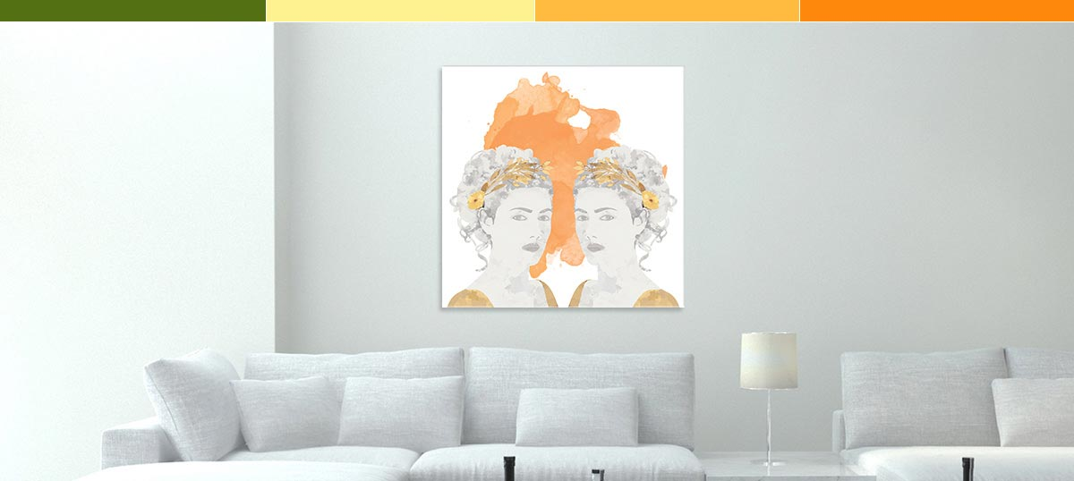 Gemini Colors Canvas Artwork