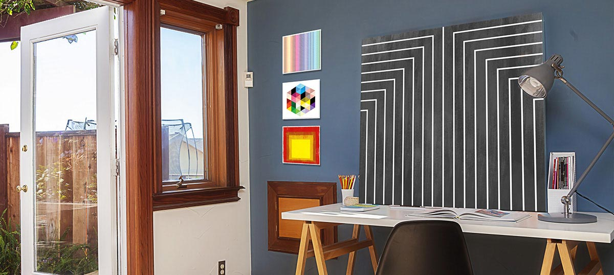 Geometric Pop Canvas Art