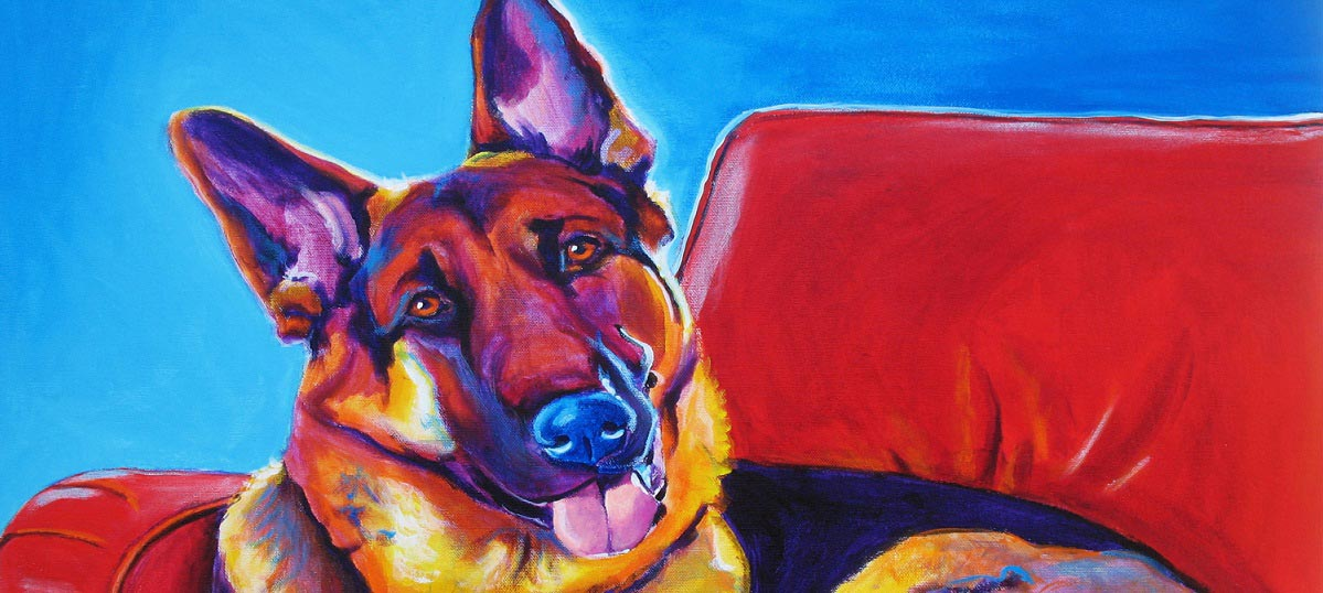 German Shepherds Canvas Art