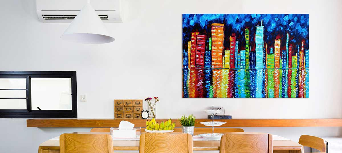 Giant Colorful Accents Canvas Art Prints