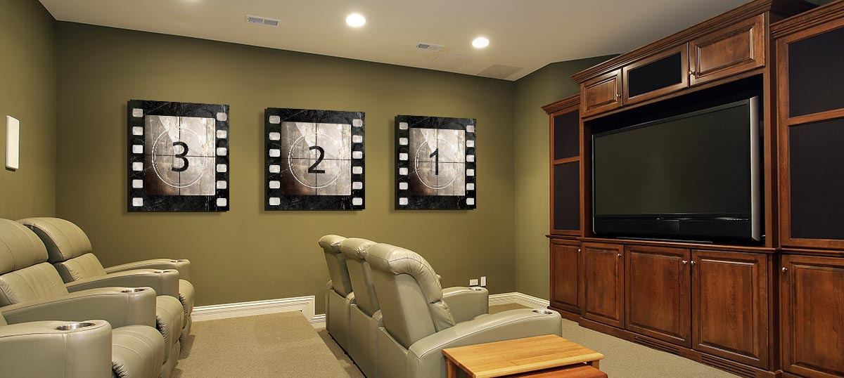 canvas art prints for home theater icanvas. Black Bedroom Furniture Sets. Home Design Ideas