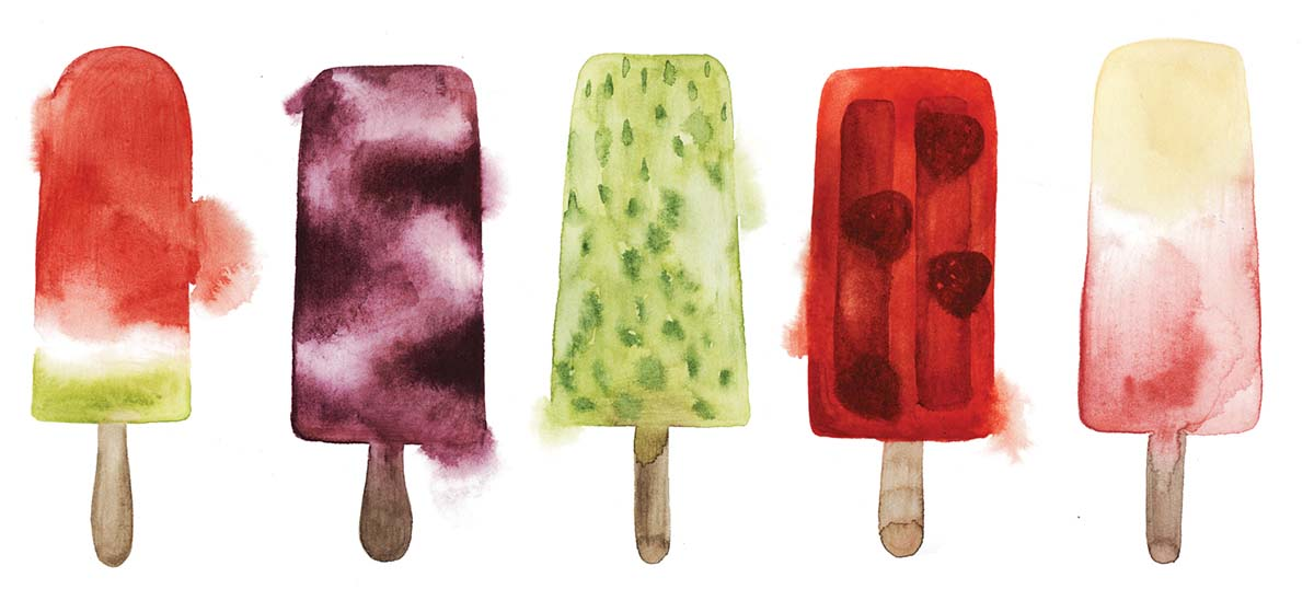 Ice Cream & Popsicles Canvas Wall Art