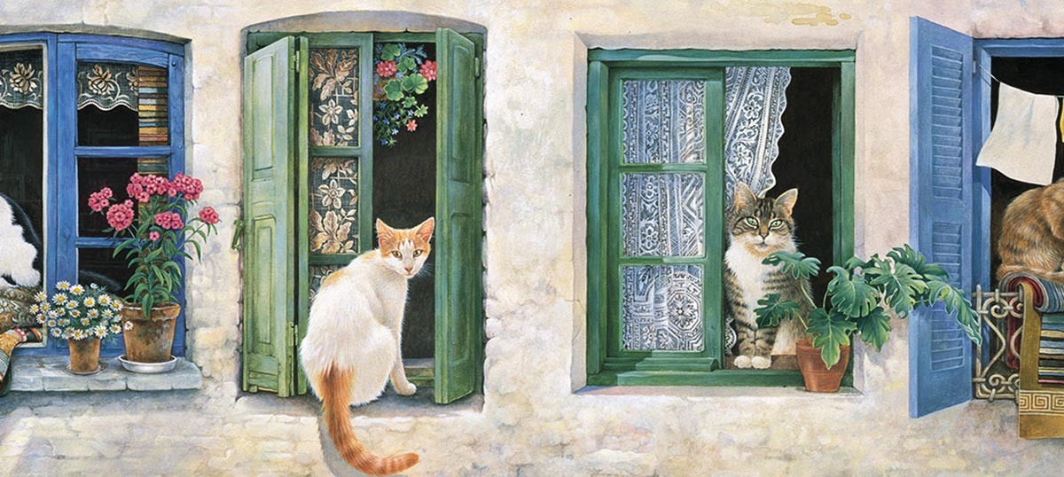 Ivory Cats Canvas Prints