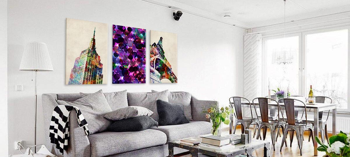 Bijoux Jewel Tones Canvas Wall Art