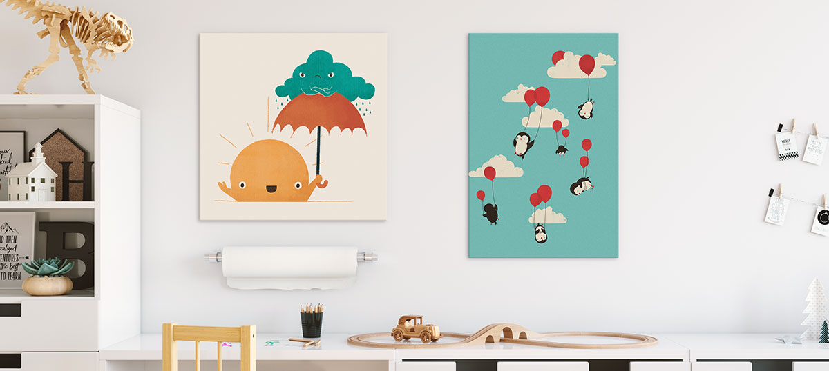 Kids' Space Canvas Artwork