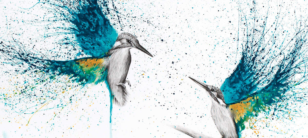 Kingfishers Canvas Art