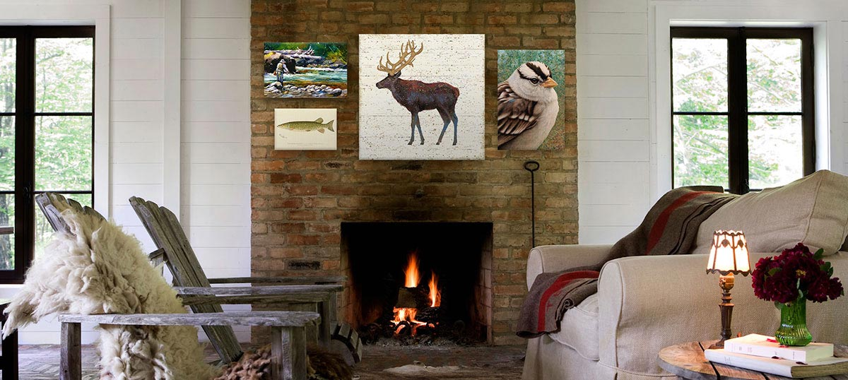 Lake Lodge Canvas Prints