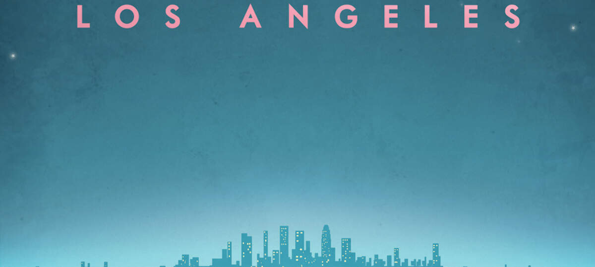 Los Angeles Travel Posters Canvas Artwork