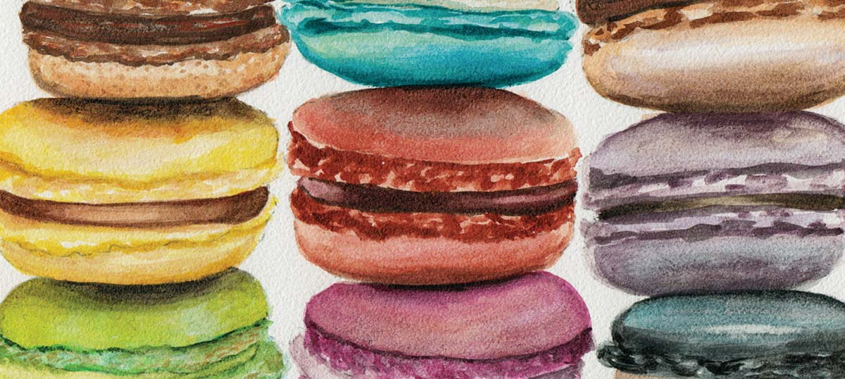 Macarons Canvas Art