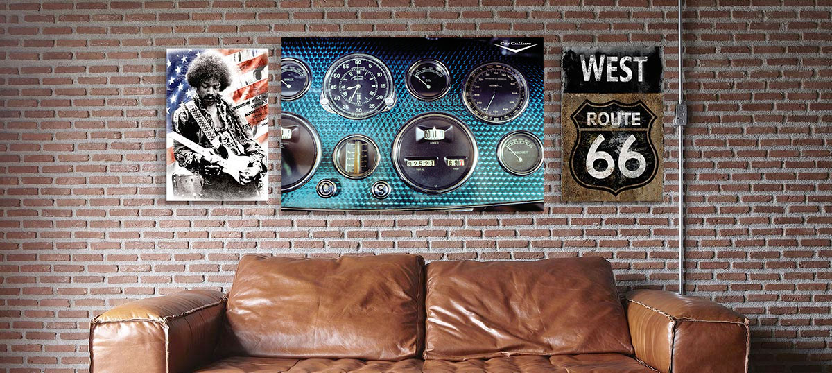 Retro Den Canvas Art Prints