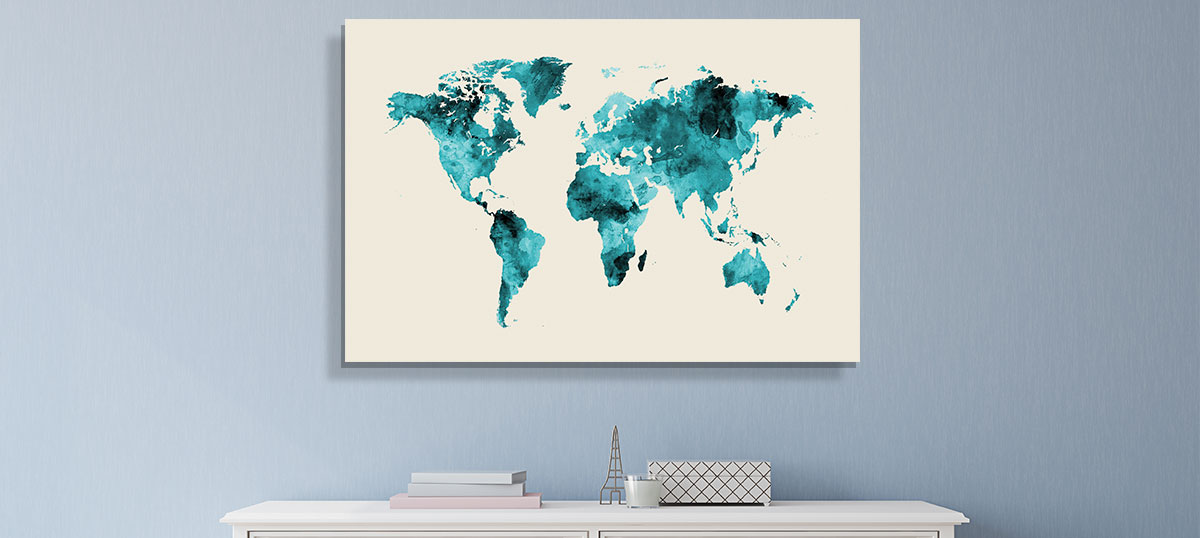 Minimalist Maps Canvas Art Prints